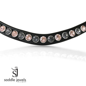 Vintage Rose & Silver Night browband - XL